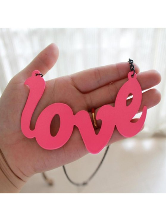 chic Cute Colored Letter Shaped Pendant Alloy Necklace For Women - AS THE PICTURE