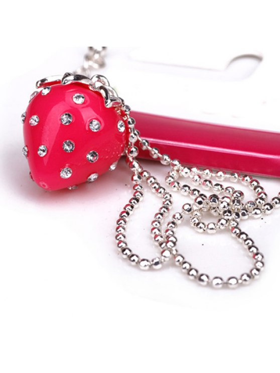 outfits Cute Rhinestone Strawberry Pendant Necklace For Women - AS THE PICTURE