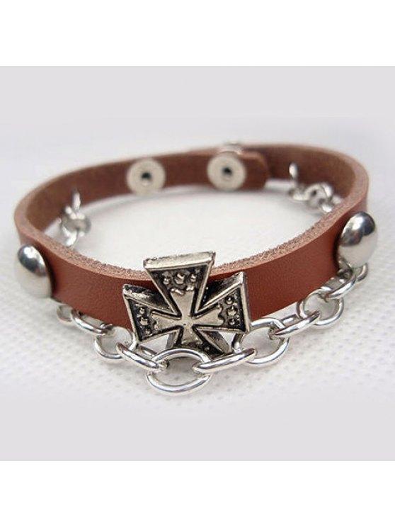 sale Trendy Clover Embellished Charm Bracelet For Men and Women - COLOR ASSORTED