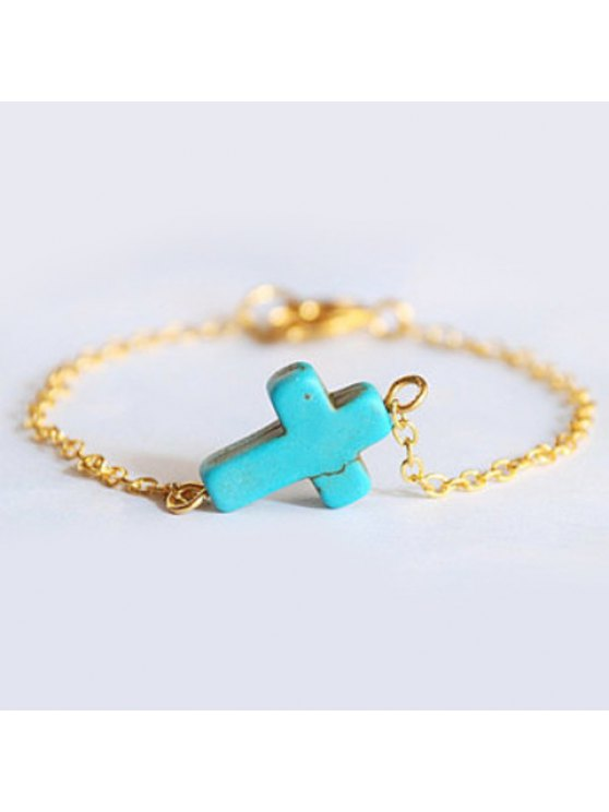 hot Sweet Turquoise Cross Pattern Bracelet For Women - AS THE PICTURE