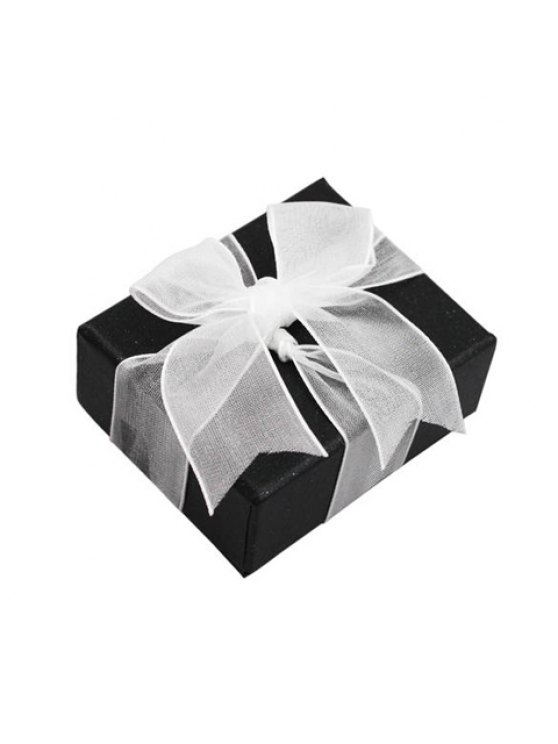 affordable ONE PIECE Chic Square Ribbon Bowknot Decorated Jewelry Box For Women - COLOR ASSORTED