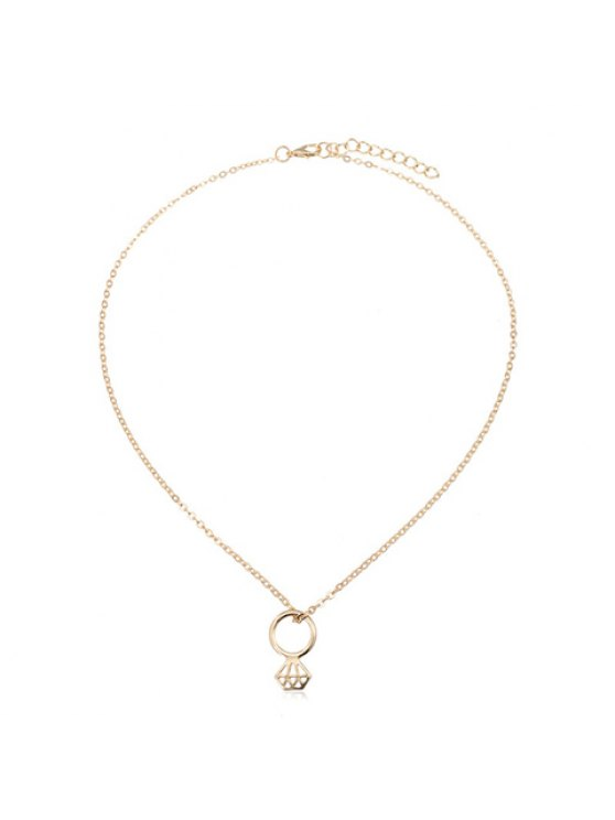 outfit Chic Women's Solid Color Pendant Necklace - GOLDEN