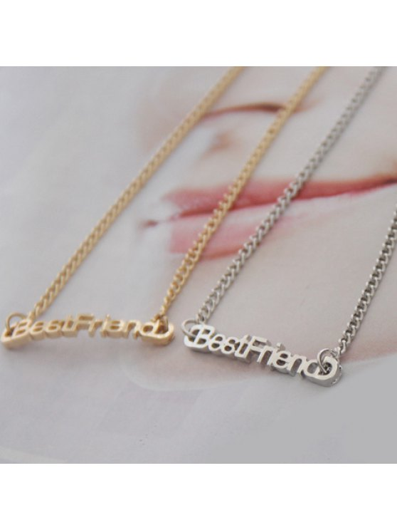 sale Stylish Letter Best Friend Embellished Necklace For Women (ONE PIECE) - COLOR ASSORTED