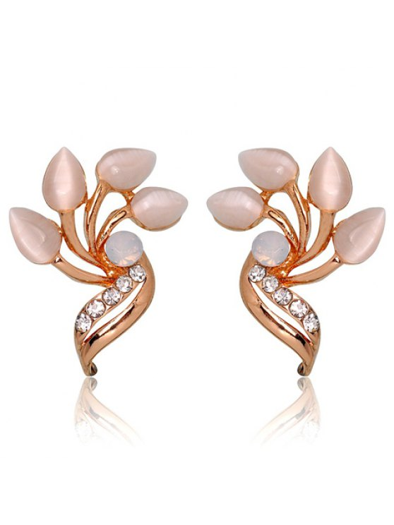 shops Pair of Fashionable Gemstone Embellished Women's Earrings - COLORMIX