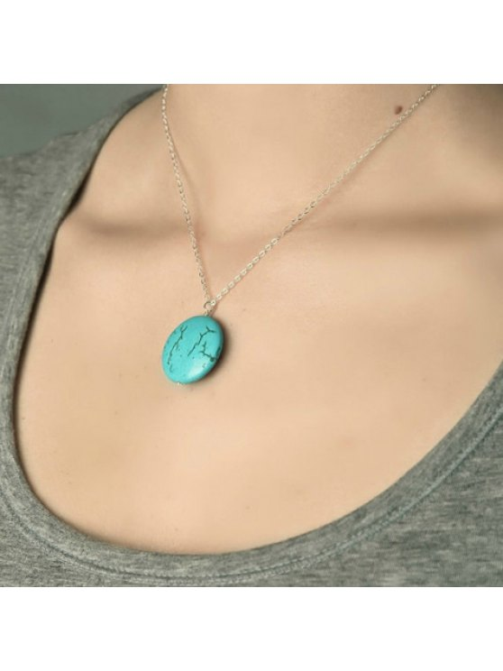 shop Trendy Green Pendant Embellished Necklace For Women - AS THE PICTURE