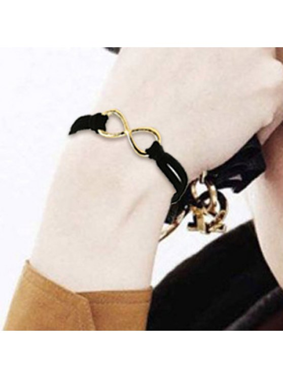 trendy Punk Style Solid Color Leather Embellished Bracelet For Women - IVORY YELLOW