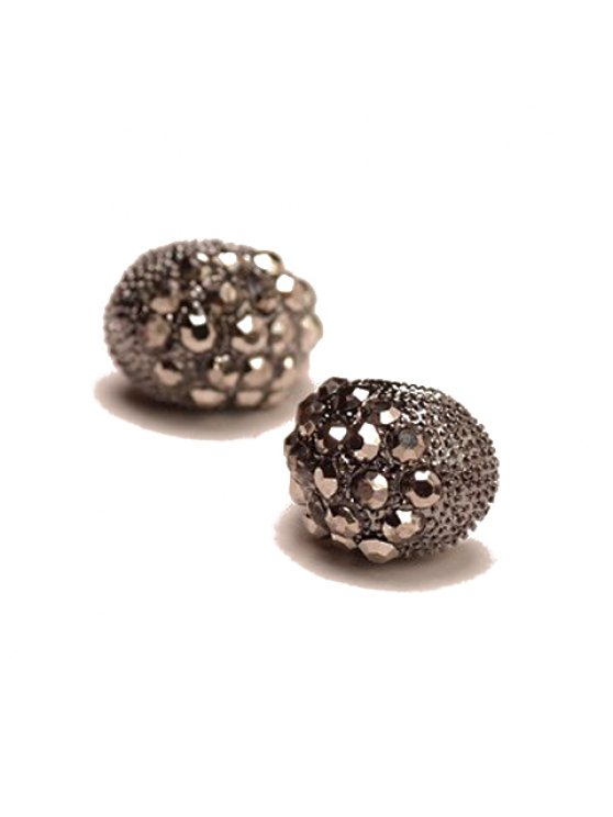 sale Pair of Attractive Rhinestone Embellished Women's Earrings - AS THE PICTURE