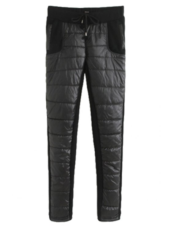 unique Solid Color Thickened Pants For Women - BLACK M