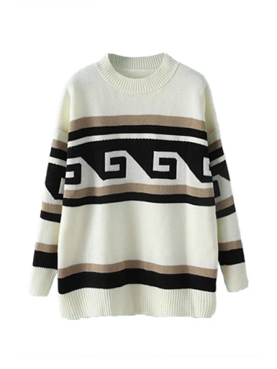 sale Geometric Print Sweater For Women - AS THE PICTURE ONE SIZE(FIT SIZE XS TO M)