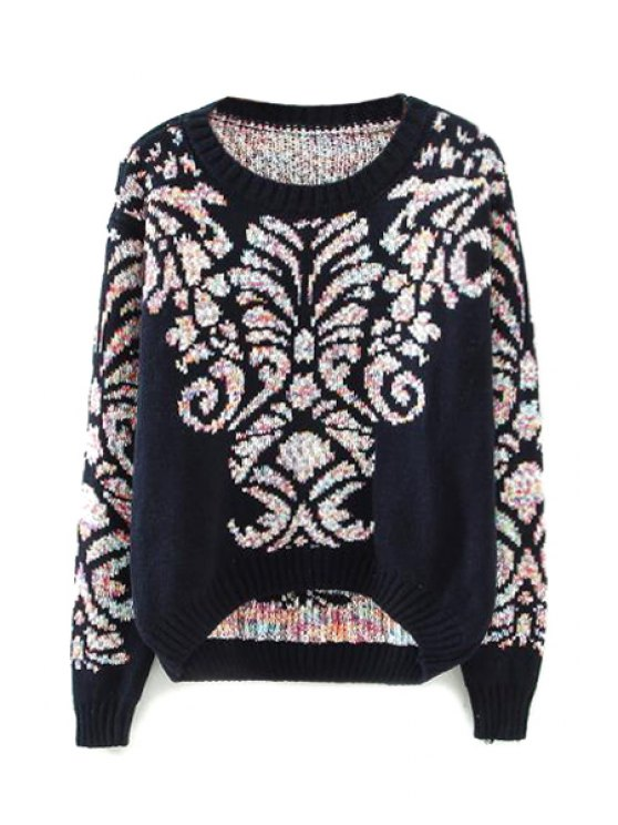 online Totem Pattern Long Sleeve Sweater For Women - AS THE PICTURE ONE SIZE(FIT SIZE XS TO M)