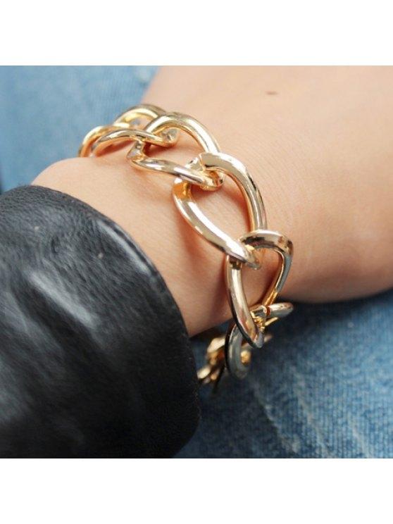 outfit Simple Women's Solid Color Bracelet - GOLDEN