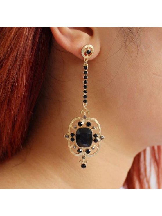fancy Pair of Trendy Faux Gem Embellished Special Shape Women's Earrings - COLOR ASSORTED