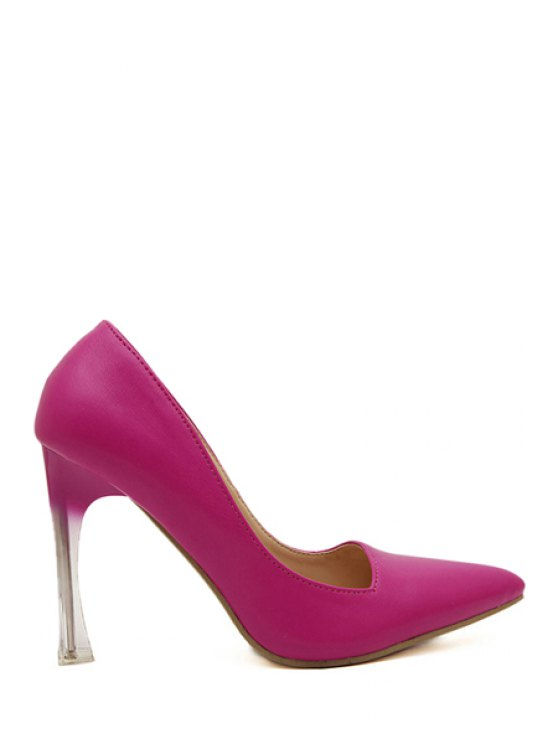 fancy Sexy High Heel Pointed Toe Pumps - PEACH RED 35