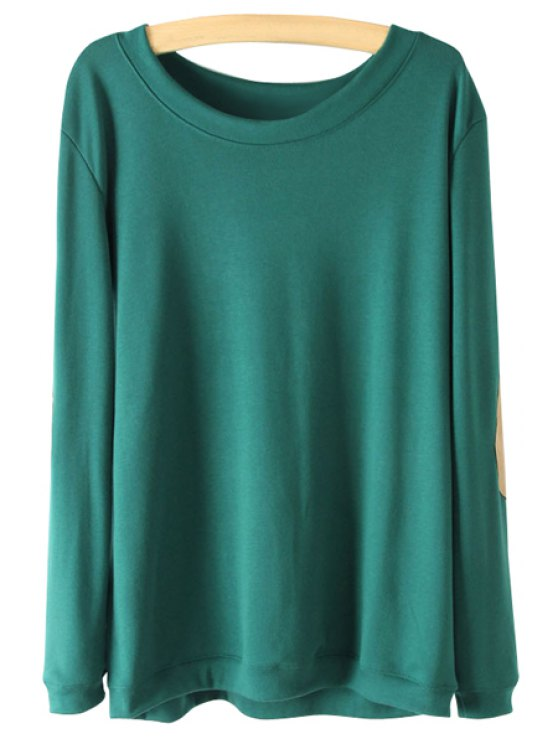 outfit Patch Design Long Sleeve T-Shirt - GREEN S