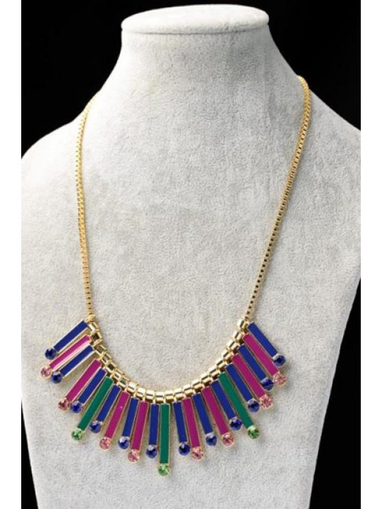 online Rhinestone Embellished Pendant Necklace  - AS THE PICTURE