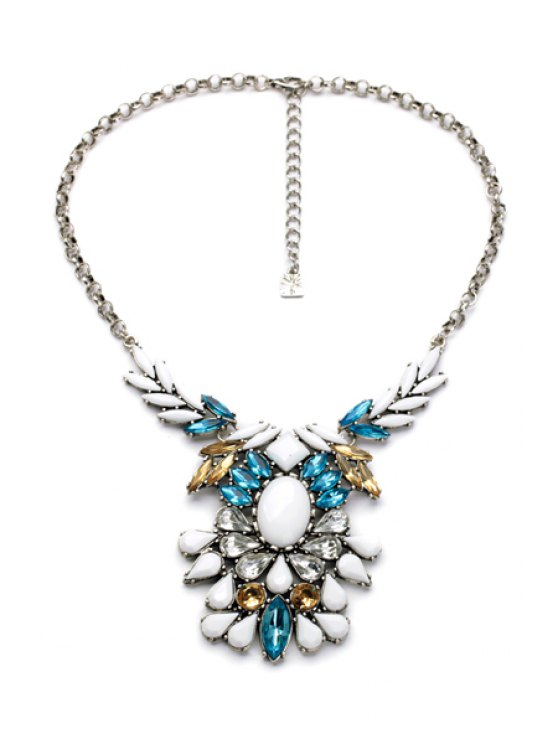 latest Faux Gem Embellished Necklace  - AS THE PICTURE