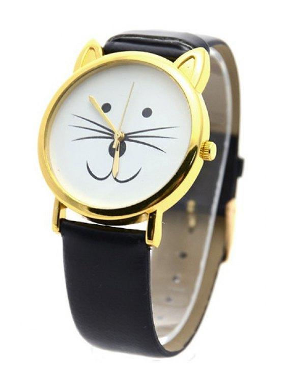 Kitten Shape Watch - BLACK  Mobile