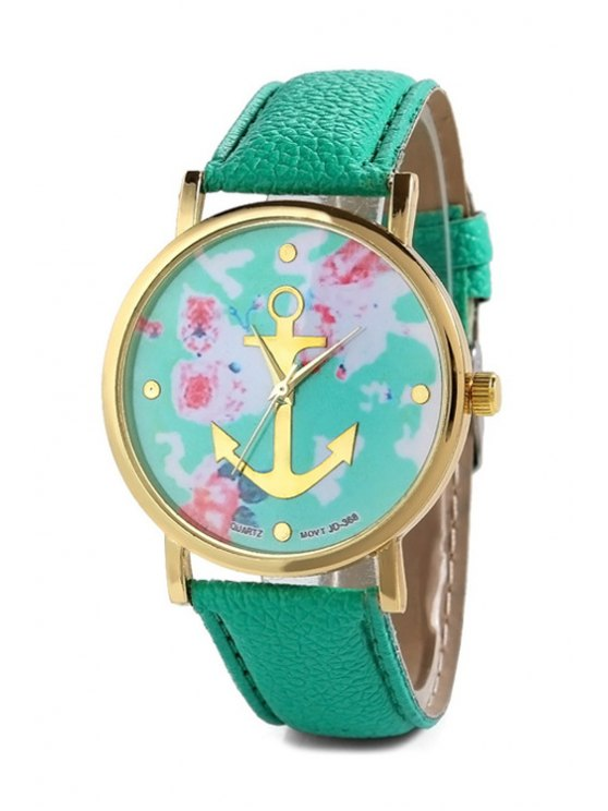 Anchor Design Printed Watch -   Mobile