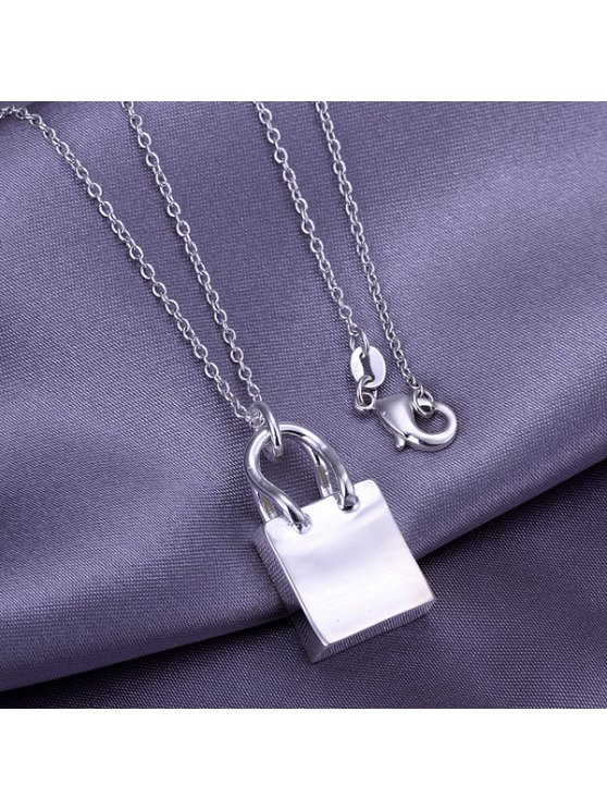 shops Stylish Bag Silver Plated Pendant Without Chain - 2.6*1.5CM