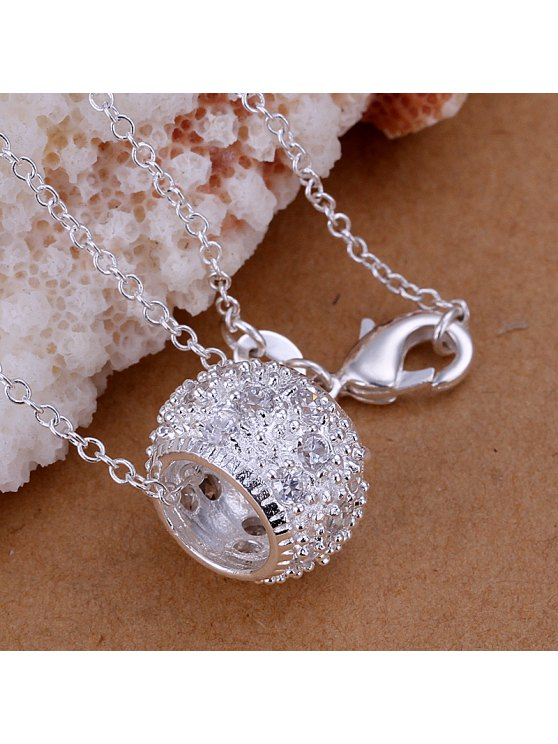 outfit Stylish Ring Silver Plated Pendant - 1.5*1.0CM
