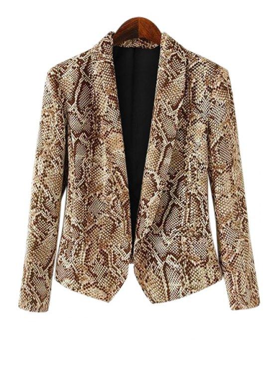 shop Snakeskin Pattern Long Sleeve Blazer - COLORMIX S