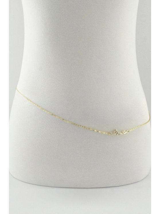 women Infinity Letter Word Body Chain - GOLDEN