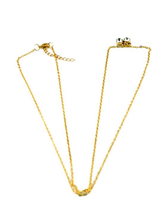women Rhinestone Embellished Body Chain - GOLDEN