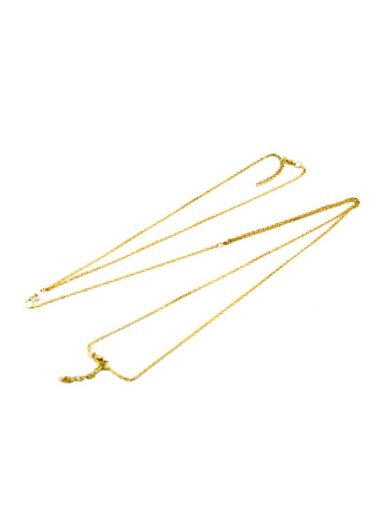 Bead Embellished Body Chain - GOLDEN  Mobile