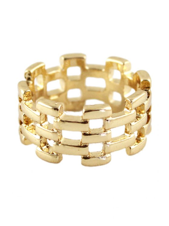 trendy Special Shape Openwork Ring - GOLDEN ONE-SIZE