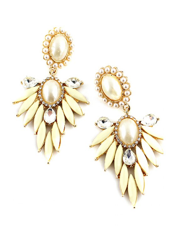 fashion Pair of Faux Gem Special Shape Earring - AS THE PICTURE