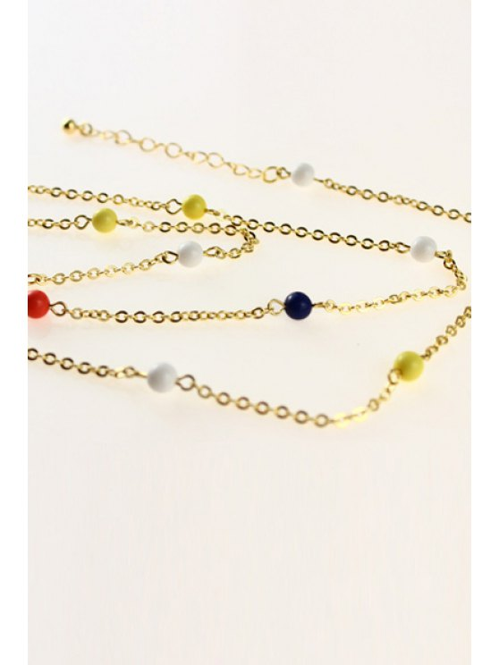 chic Colorful Beads Embellished Body Chain - COLORFUL