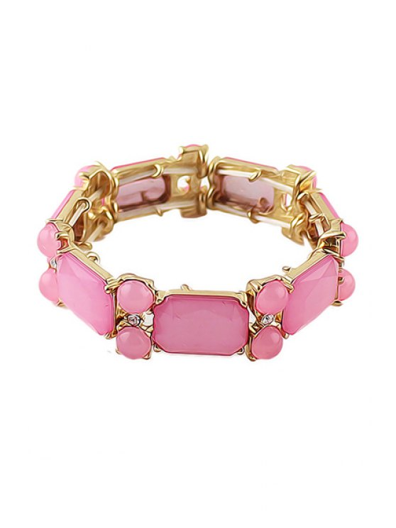 new Simple Faux Gemstone Bracelet - PINK