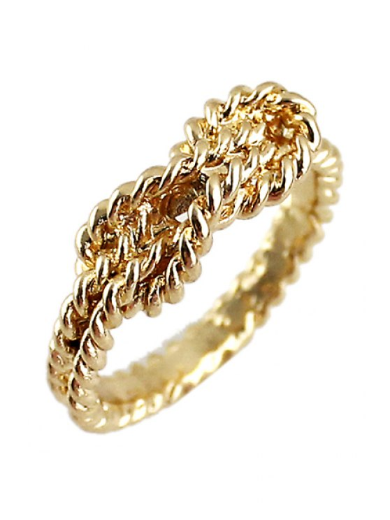 women Golden Special Shape Ring - GOLDEN ONE-SIZE