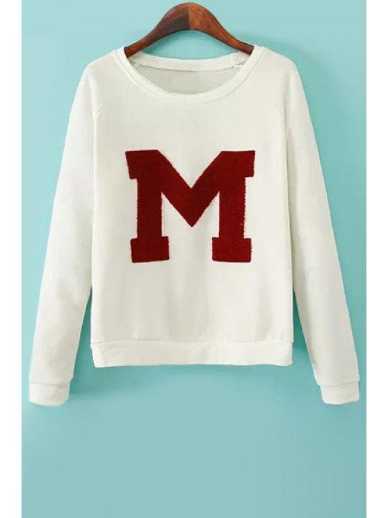 online Flocking Letter Pattern Sweatshirt - OFF-WHITE S