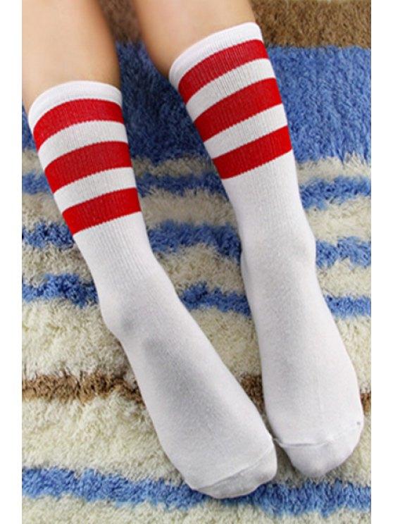 sale Pair of Stripe Socks - COLOR ASSORTED