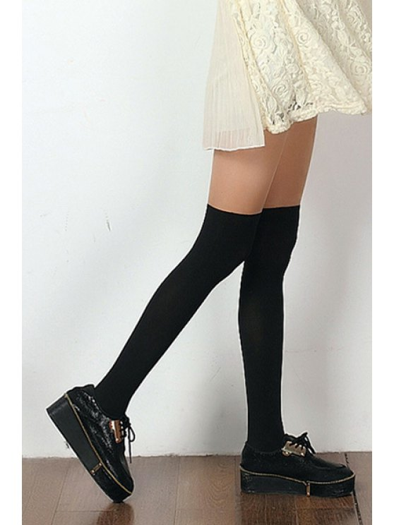 buy Splicing Pantyhose - BLACK ONE SIZE(FIT SIZE XS TO M)
