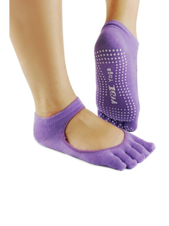 best Openwork Skidproof Yoga Socks - PURPLE