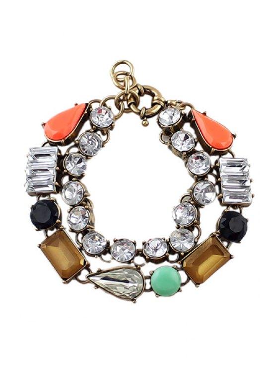 fashion Artificial Stone Decorated Bracelet - COLORMIX