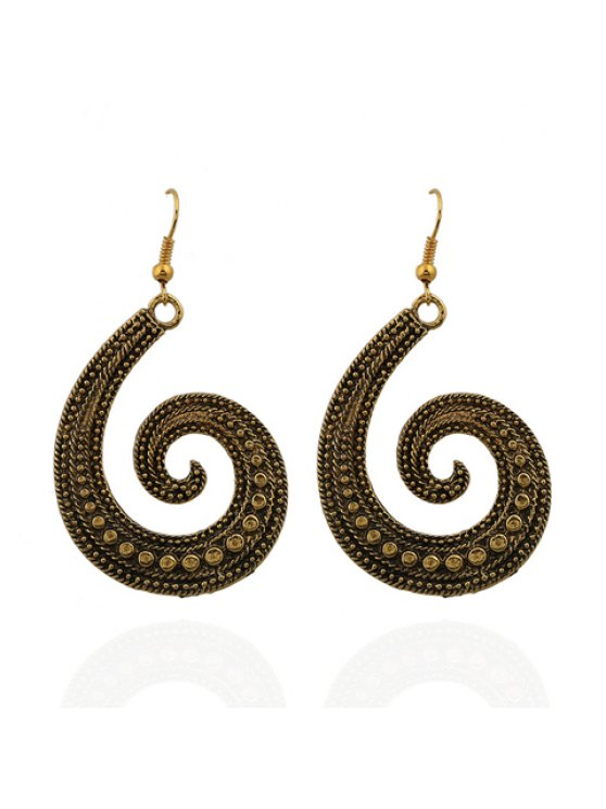 affordable Pair of Trendy Women's Printed Earrings - AS THE PICTURE