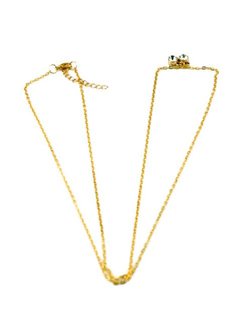 women Rhinestone Embellished Body Chain - GOLDEN  Mobile