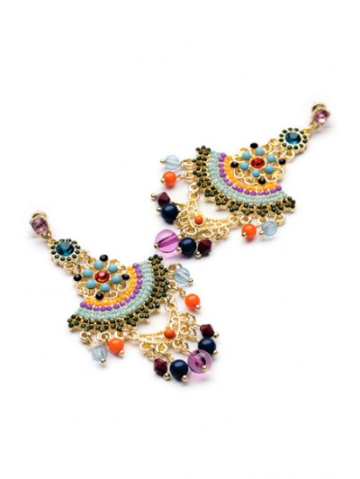 Pair of Special Shape Beads Embellished Earrings от Zaful.com INT
