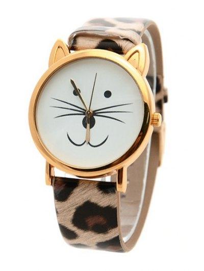 Kitten Shape Watch - LEOPARD  Mobile