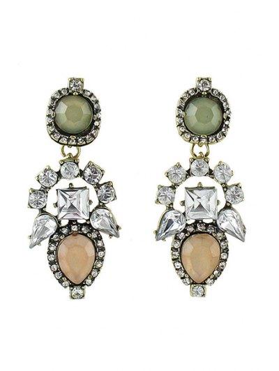 Pair of Colorful Gemstone Earrings - PINK  Mobile