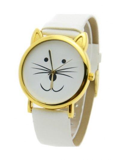 Kitten Shape Watch - WHITE  Mobile