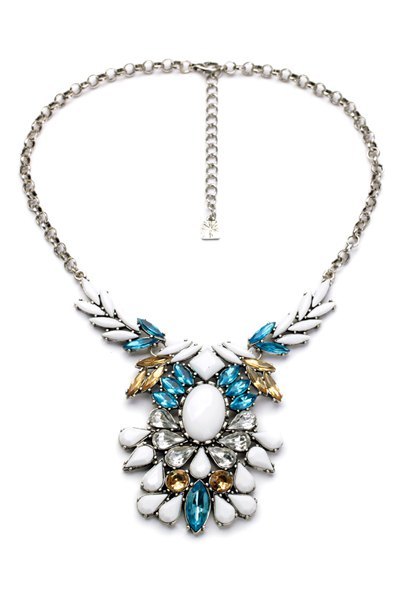 Faux Gem Embellished Necklace