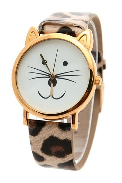 Kitten Shape Watch For Women