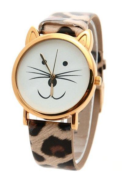 Kitten Shape Watch - LEOPARD
