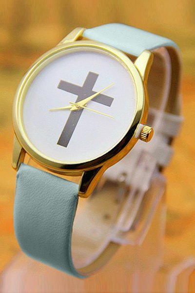 PU Leather Cross Pattern Watch от Zaful.com INT