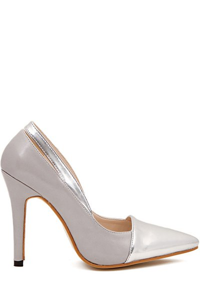 Sexy High Heel Hollow Out Pumps - GRAY 35