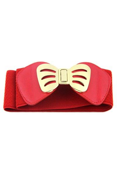 Bowknot Buckle Elastic Belt
